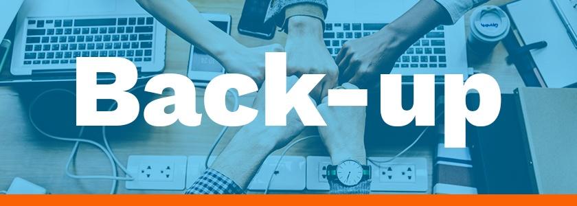 Back-up maken door kantoor in samenwerking met ondernemer