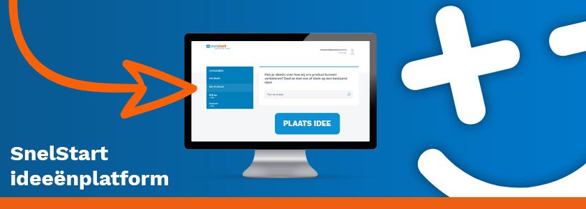 Deel jouw idee(ën) voor SnelStart via het nieuwe ideeënplatform