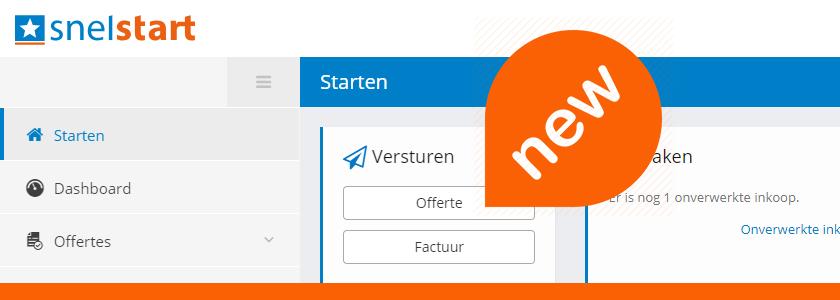 Nieuw! Offertes en herinneringen in SnelStart Web