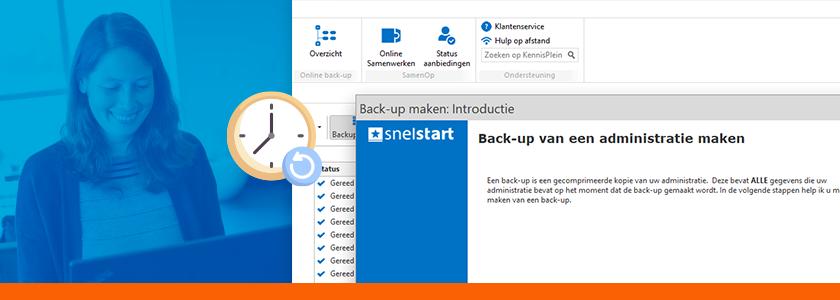Snel en veilig een back-up maken van je SnelStart administratie