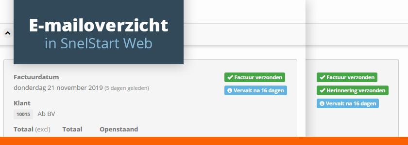 Webnieuws: het e-mailoverzicht is versimpeld